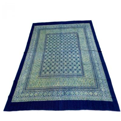 Indian Handmade Vintage Indigo Kantha Cotton Quilt Bedspread Blanket Assorted