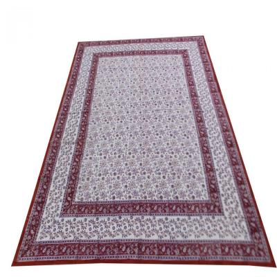 Indian Hand Block Printed Floral Design Maroon & Purple Color Bed Sheet, Wall Hanging Tapestry