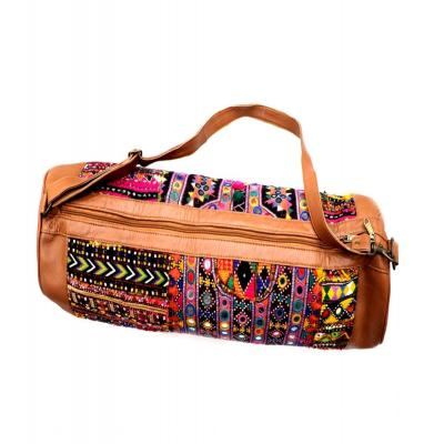 Indian Handmade Patch Work Bohemian Leather Yoga Mat Bag